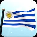 Uruguay Flag 3D Free Wallpaper icon