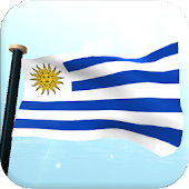 Uruguay Flag 3D Free Wallpaper