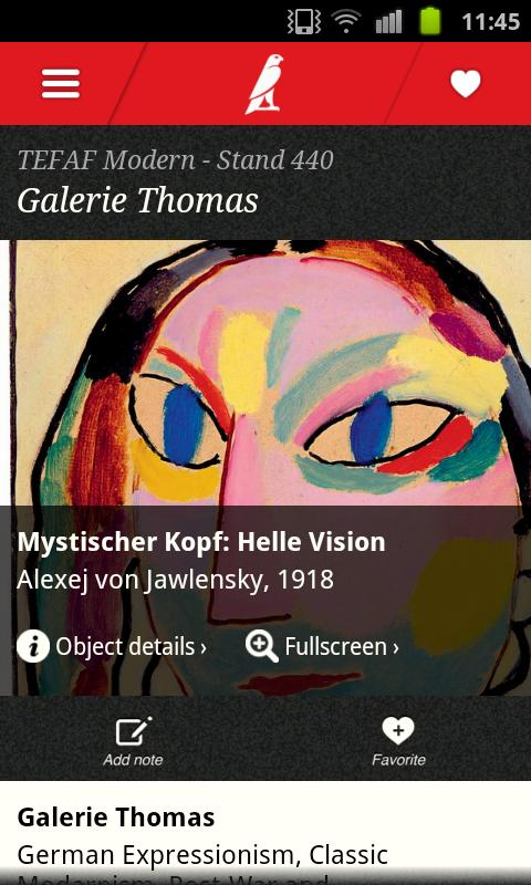 TEFAF 2014 - screenshot
