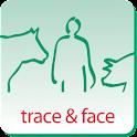 trace & face logo