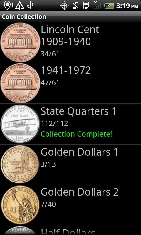 Coin Collection - screenshot
