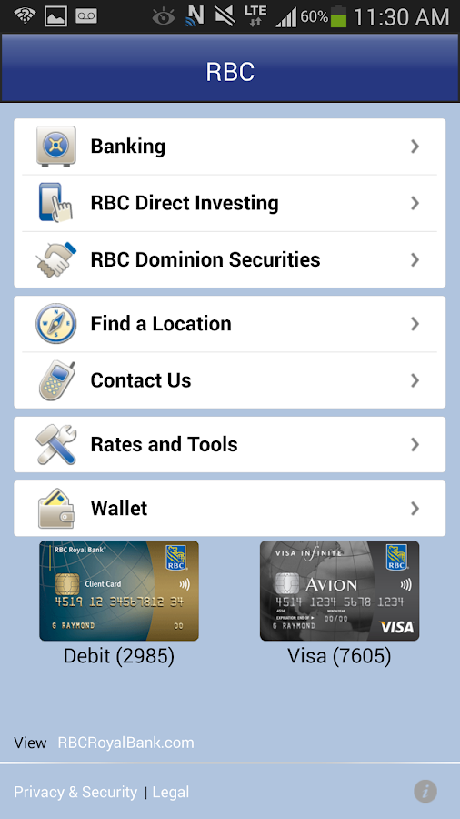 RBC Mobile - screenshot