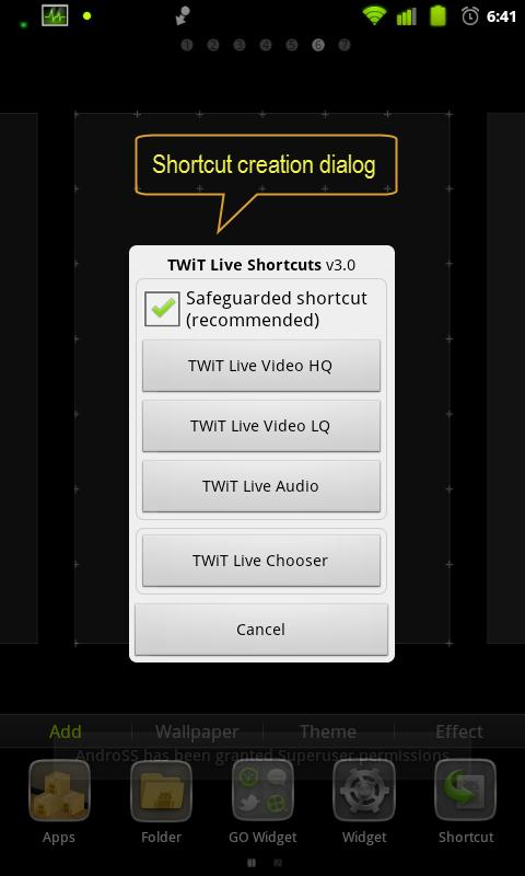TWiT Live Shortcuts- screenshot