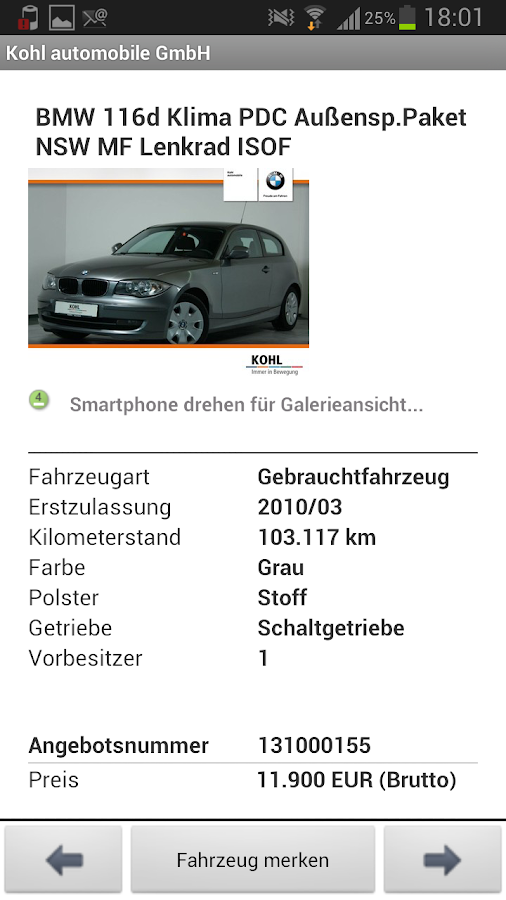 KOHL automobile- screenshot