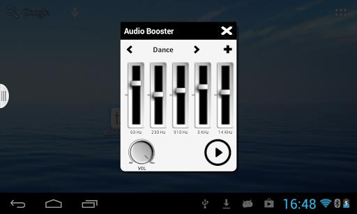 AudioBoost widget