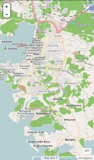 Mappa di Pola in italiano