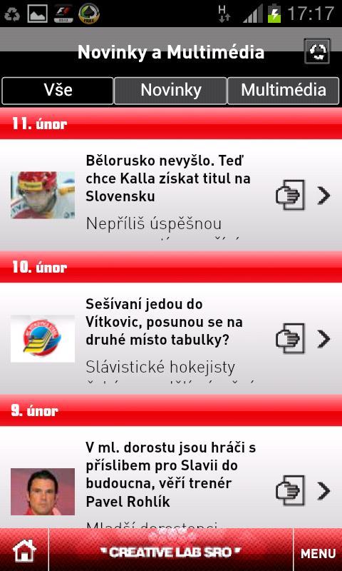 HC Slavia Praha - screenshot