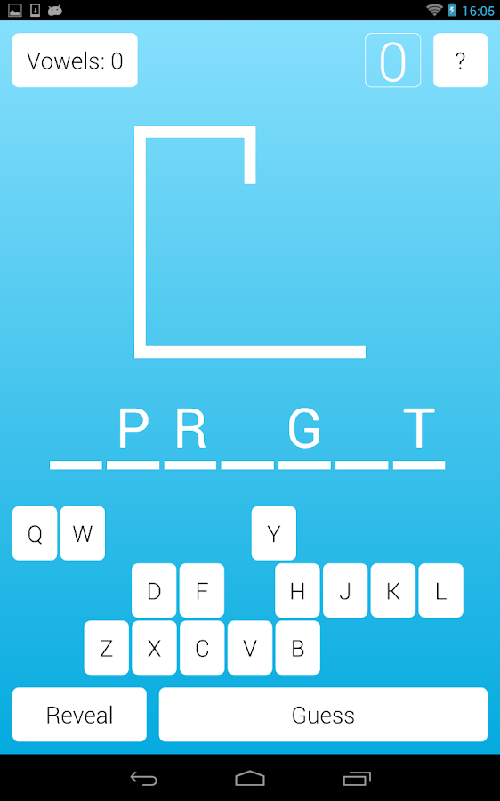 Qt Hangman- screenshot
