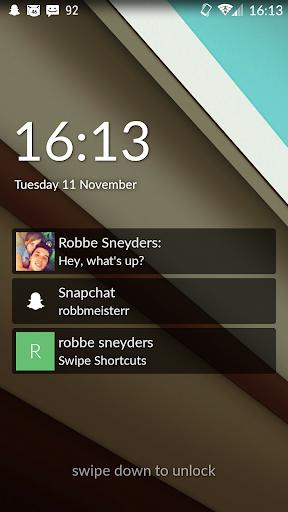Swipe Shortcuts Lock Screen