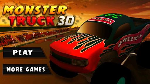 極端的怪物卡車驅動的3D
