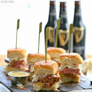 Slow Cooker Corned Beef and Cabbage Sliders (with Guinness Mustard!).