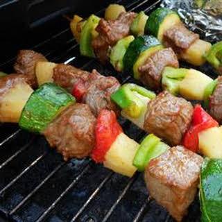 Beef Shish Kebabs for Freezer Cooking.