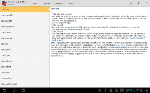 【免費書籍App】Webster's Dictionary+Thesaurus-APP點子