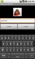 Screenshot of Shortcut SMS Pro