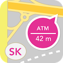 Bankomaty, pobočky a pošty SK icon