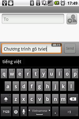 GoTiengViet 3 Vietnamese input- screenshot