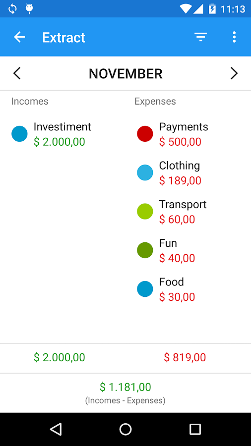 Mobills Finance Manager - screenshot