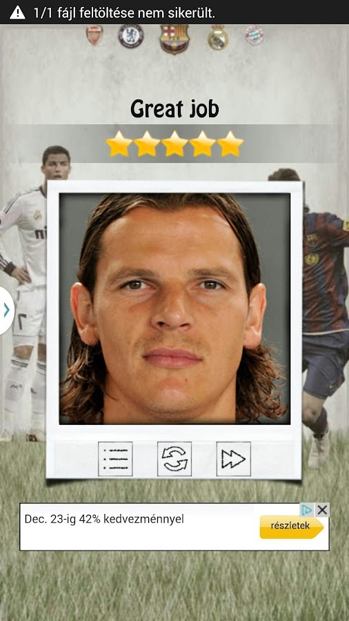Quizio - Football club - screenshot