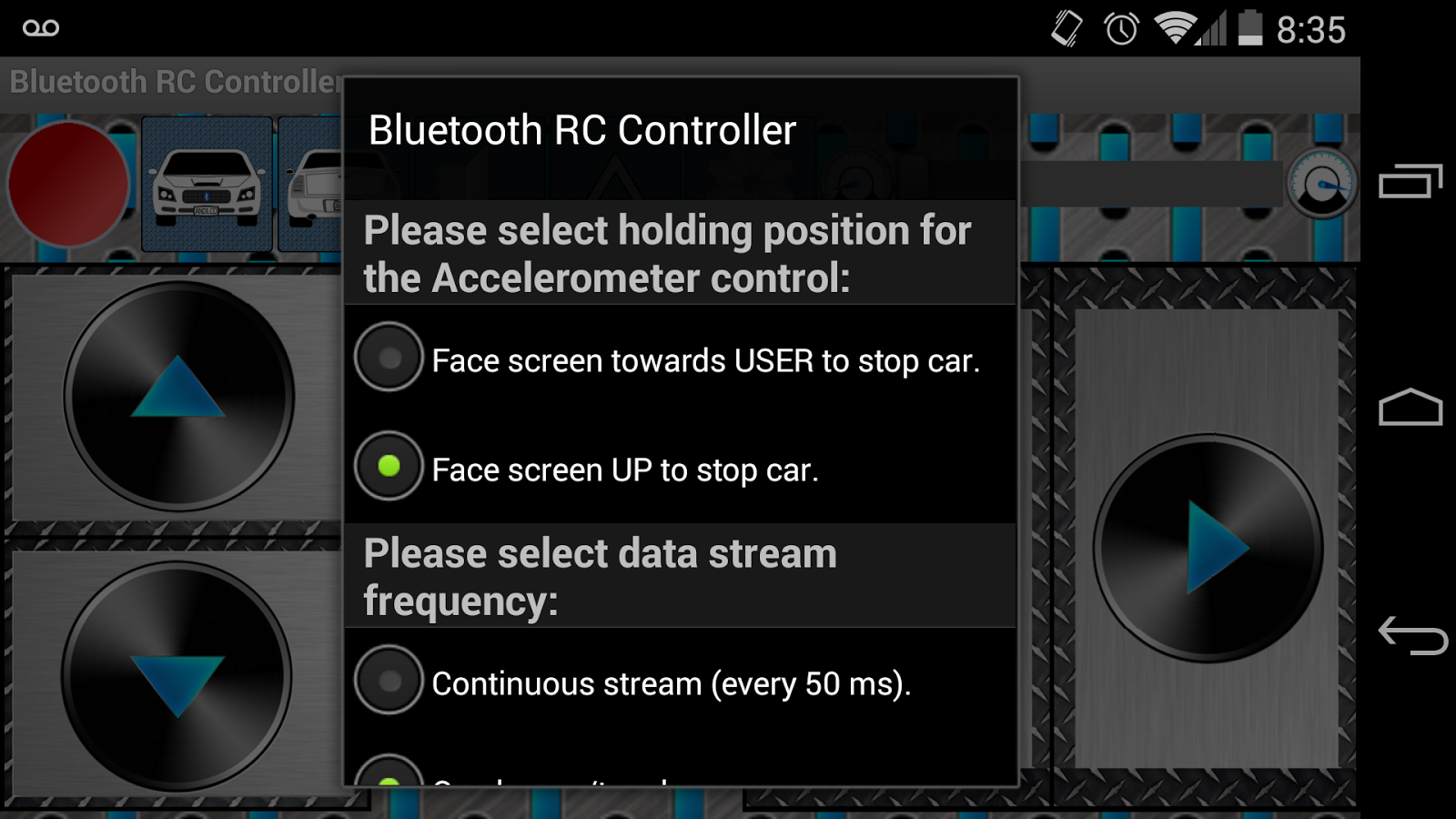 Arduino Bluetooth RC Car - screenshot