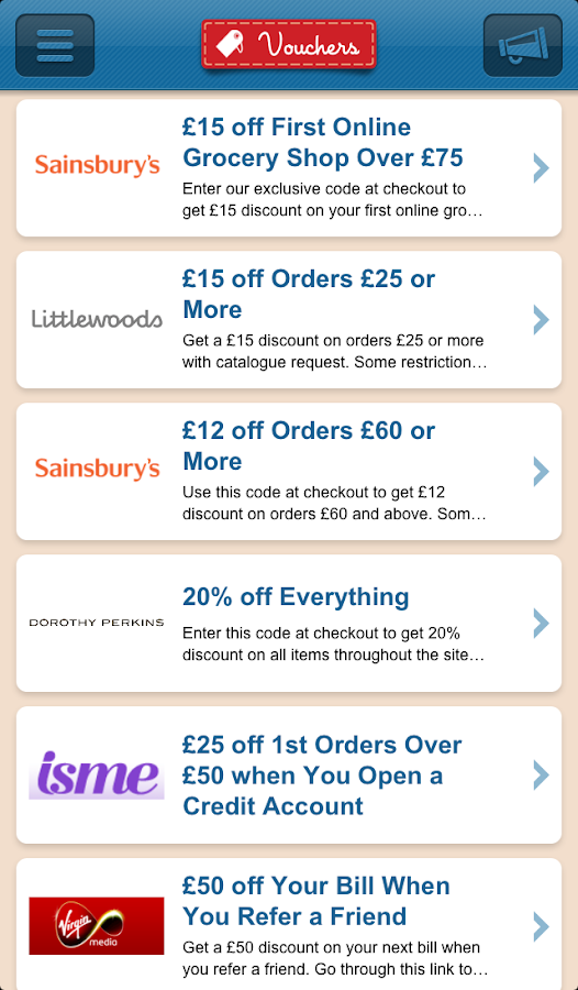 Savoo - The voucher finder- screenshot