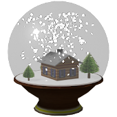 Snow globe Live wallpaper 3D