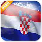 3D Croatia Flag Live Wallpaper icon