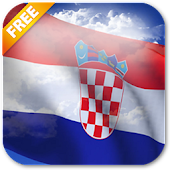 3D Croatia Flag Live Wallpaper