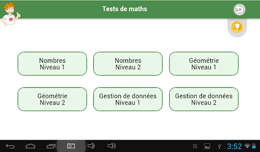 Tests de maths