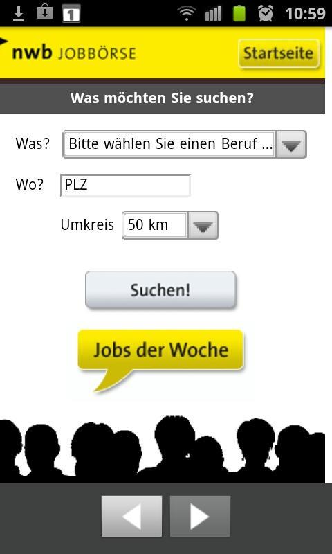 NWB Jobbörse- screenshot