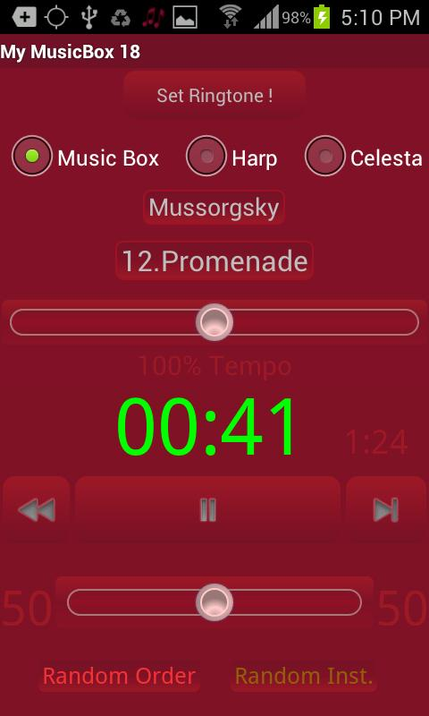My MusicBox 18 - screenshot