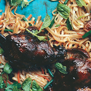 Asian Noodles with Barbecued Duck Confit.