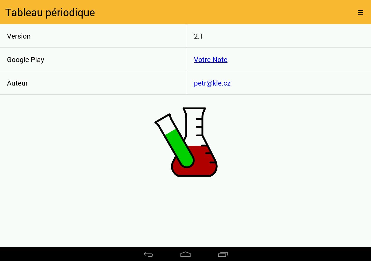 Tableau Périodique - Applications Android sur Google Play