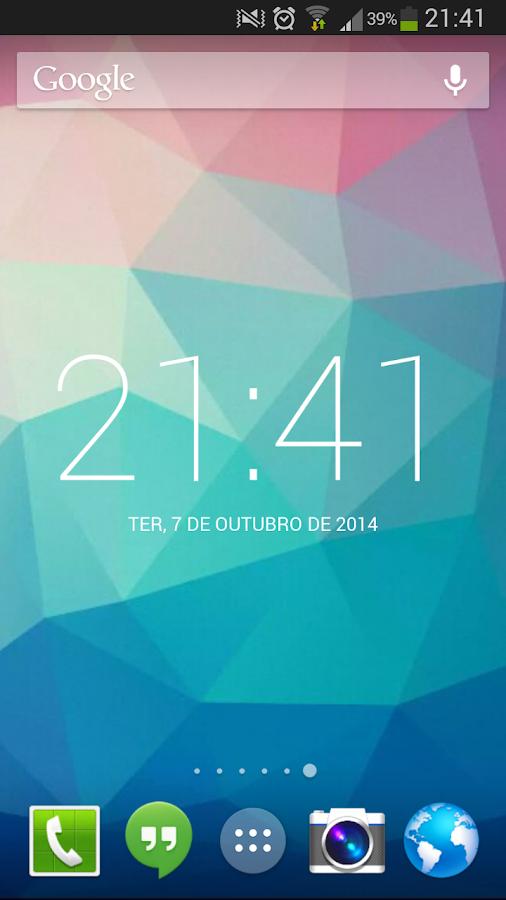 Roboto Clock Widget - screenshot