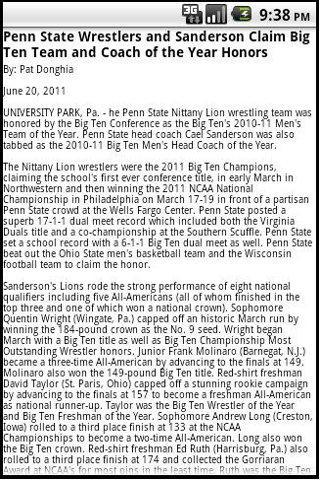 Penn State Wrestling Club- screenshot