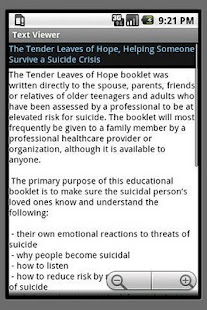 Suicide Crisis Support - screenshot thumbnail