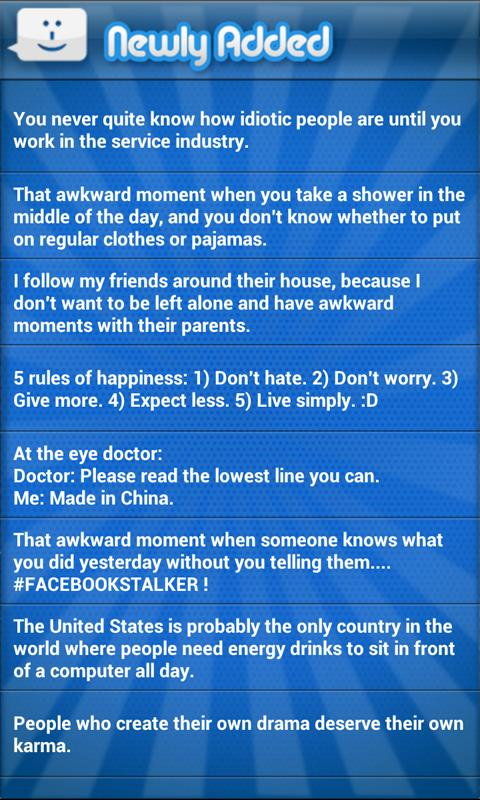 Funny Status Updates 2 - screenshot