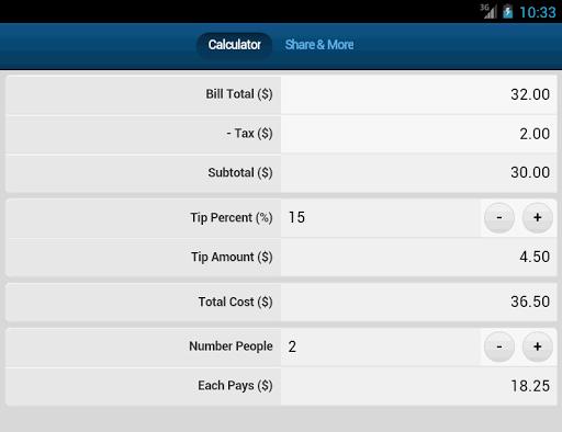 玩財經App|Bill Tip Split Calculator免費|APP試玩