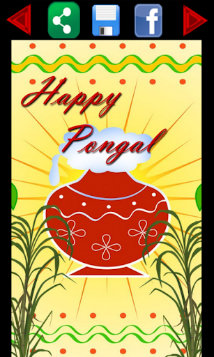 Happy Pongal Greetings Cards