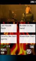 Screenshot of Rock Quiz 2 - music trivia
