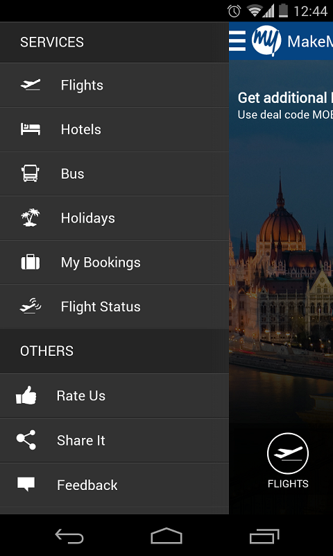 MakeMyTrip, Flights Hotels Bus - screenshot