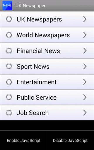 UK Newspaper Browser UK News