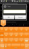 Screenshot of OrangeGlass KeyboardSkin