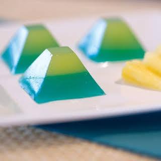 Blue Hawaii Jelly Shots.