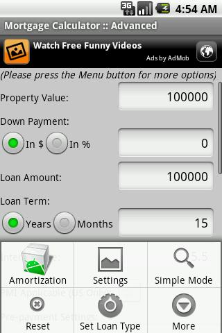 Mortgage Auto Loan Calculator - screenshot