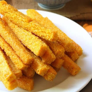 Cheezy Baked Polenta Fries.
