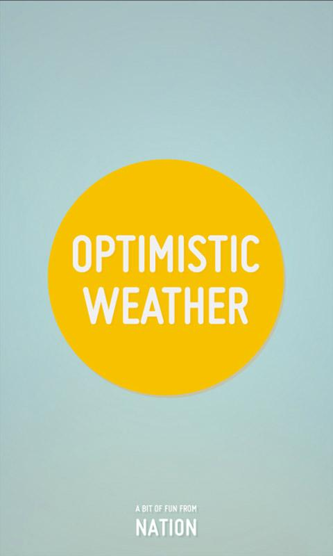 Optimistic Weather- screenshot