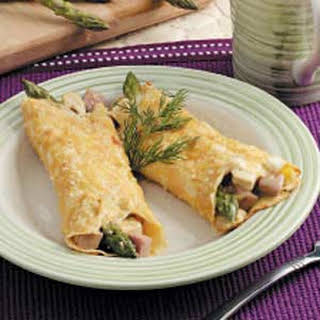 Asparagus Chicken Crepes.