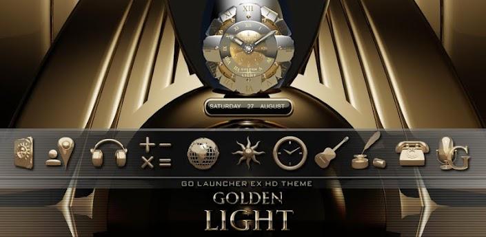3D GOLD GO LauncherEX theme apk
