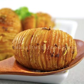 Spiced Mini Hasselback Potatoes.
