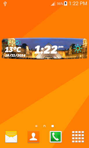 巴黎數字天氣時鐘